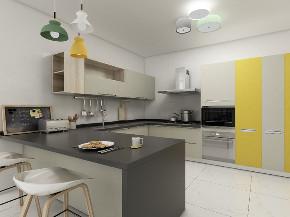 简约 三居 白领 收纳 旧房改造 80后 小资 厨房图片来自今朝小伟在120平米极简风格的分享