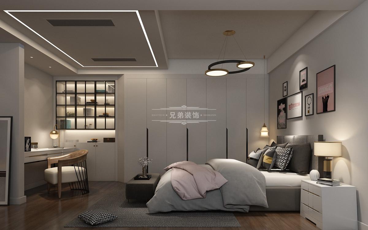 兄弟装饰,重庆茶园保利堂悦叠墅卧室装修设计效果图