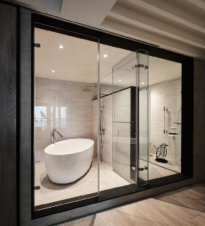 简约 三居 白领 收纳 旧房改造 80后 小资 卫生间图片来自今朝小伟在7万拿下180平米现代简约风格的家的分享