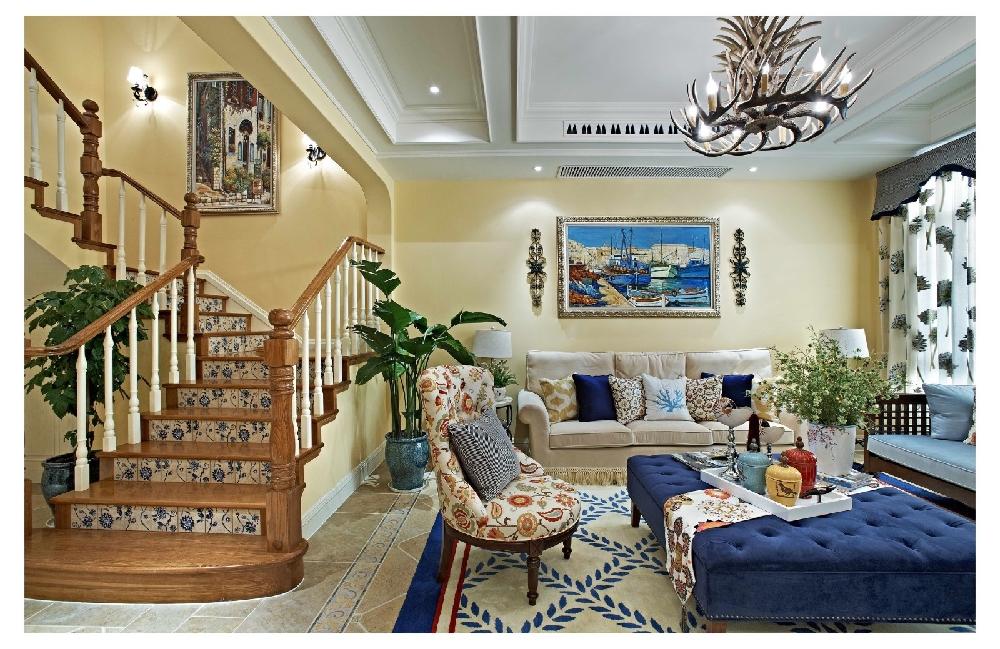 田园 二居 白领 收纳 旧房改造 80后 小资 楼梯图片来自今朝小伟在地中海田园格调氛围空间的分享