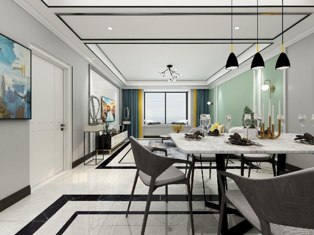 二居 白领 旧房改造 收纳 80后 小资 餐厅图片来自今朝小伟在110㎡现代风格两居室的分享