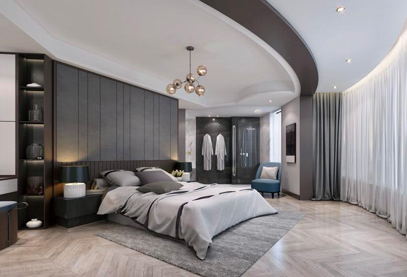 二居 白领 收纳 旧房改造 80后 小资 简约 卧室图片来自今朝小伟在轻奢黑白灰别具一格的分享