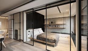 简约 三居 白领 收纳 旧房改造 80后 小资 卧室图片来自今朝小伟在7万拿下180平米现代简约风格的家的分享