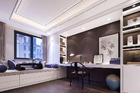 三居 白领 收纳 旧房改造 80后 小资 书房图片来自今朝小伟在138平米的宜居环境,新中式的分享