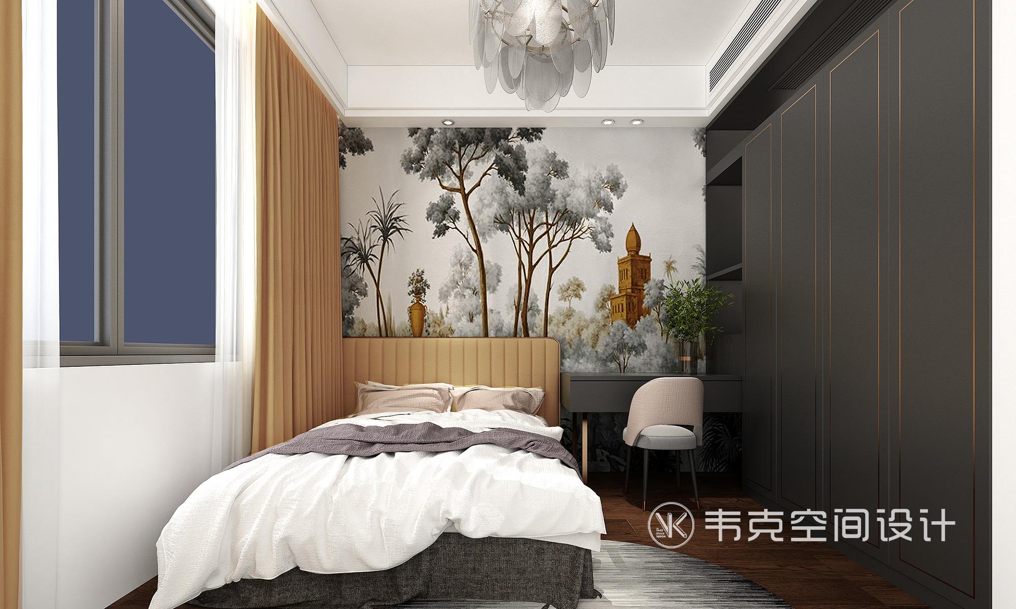5室 轻奢 卧室图片来自韦克空间设计在韦克丨撩人心扉的美的分享