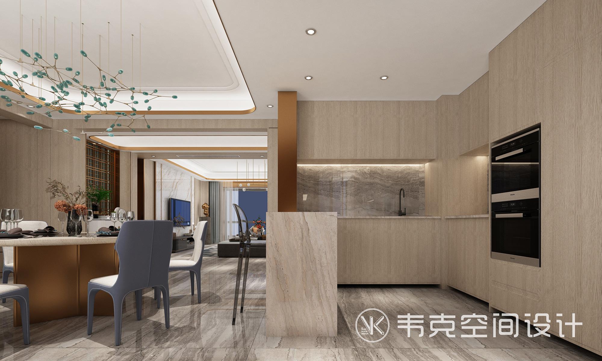 5室 轻奢 餐厅图片来自韦克空间设计在韦克丨撩人心扉的美的分享