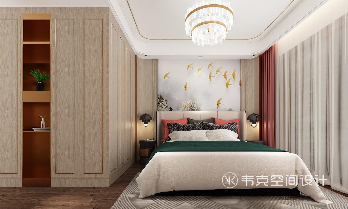 用暖黄作为整个空间的提亮色,再加上一些闪亮的装饰元素作为点缀,轻松演绎轻奢之美,缔造出让人无限回味的空间,打造出深受年轻人喜爱的现代家居。
