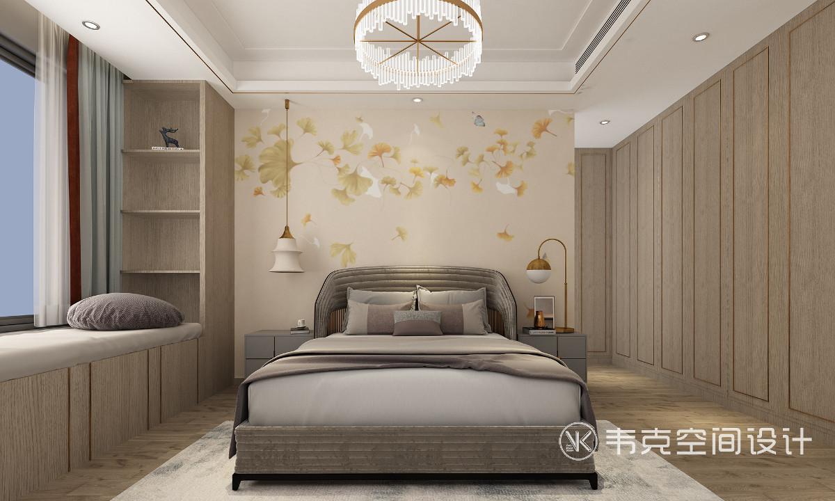 老人房线条简洁明晰,装饰优雅、得体有度,床两侧留出了足够宽敞的活动空间,让老人能够无障碍进出。午后两点半的阳光,慵懒、悠然,沿着它优雅的弧线缓缓流淌。