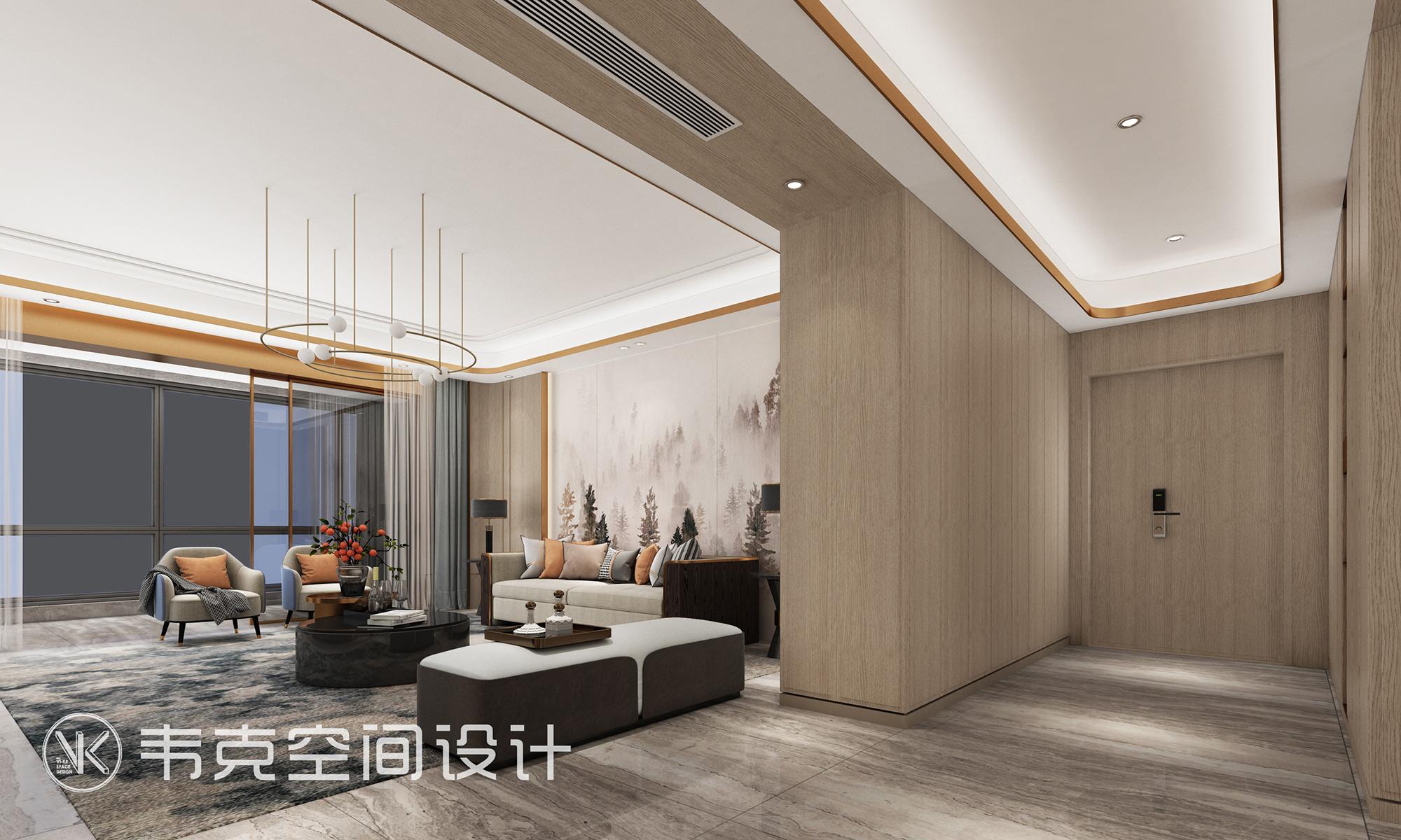 5室 轻奢 客厅图片来自韦克空间设计在韦克丨撩人心扉的美的分享
