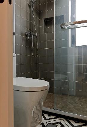 二居 白领 收纳 旧房改造 80后 小资 卫生间图片来自今朝小伟在老房整体改造翻新,55平北欧风格的分享