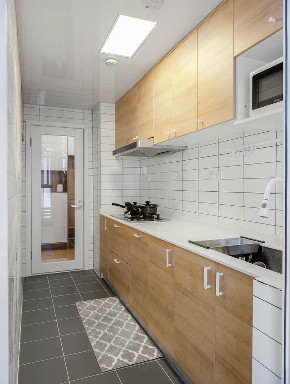 简约 二居 收纳 旧房改造 白领 小资 80后 厨房图片来自今朝小伟在整体留白简单的木色为主的分享