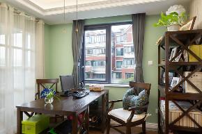 二居 白领 收纳 旧房改造 80后 小资 书房图片来自今朝小伟在设计体验生活-悠然美式格调的分享