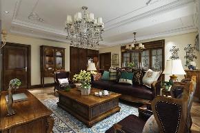 小资 二居 美式 客厅图片来自晋级装饰官方在浦江御景湾138平美式风格的分享