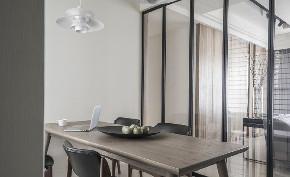 简约 二居 白领 收纳 旧房改造 80后 小资 餐厅图片来自今朝小伟在120㎡勾勒简约风格梦幻两居室的分享