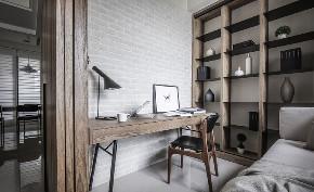 简约 二居 白领 收纳 旧房改造 80后 小资 书房图片来自今朝小伟在120㎡勾勒简约风格梦幻两居室的分享