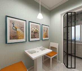 简约 二居 白领 收纳 旧房改造 80后 小资 餐厅图片来自今朝小伟在65平现代简约风精致小家的分享