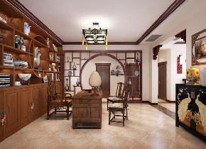 白领 收纳 旧房改造 80后 小资 书房图片来自今朝小伟在268㎡传统中式风格的分享