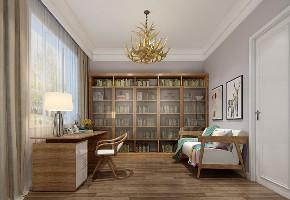 二居 白领 收纳 旧房改造 80后 小资 书房图片来自今朝小伟在中式碰上轻奢的分享