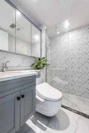 白领 收纳 旧房改造 80后 小资 卫生间图片来自今朝小伟在简欧复式,打造清新居心地的分享