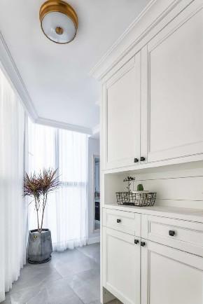 白领 收纳 旧房改造 80后 小资 玄关图片来自今朝小伟在简欧复式,打造清新居心地的分享