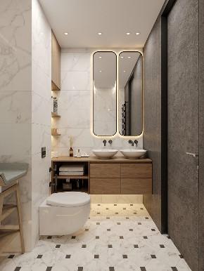 二居 白领 旧房改造 收纳 80后 小资 卫生间图片来自今朝小伟在80平米空间,简约北欧的分享