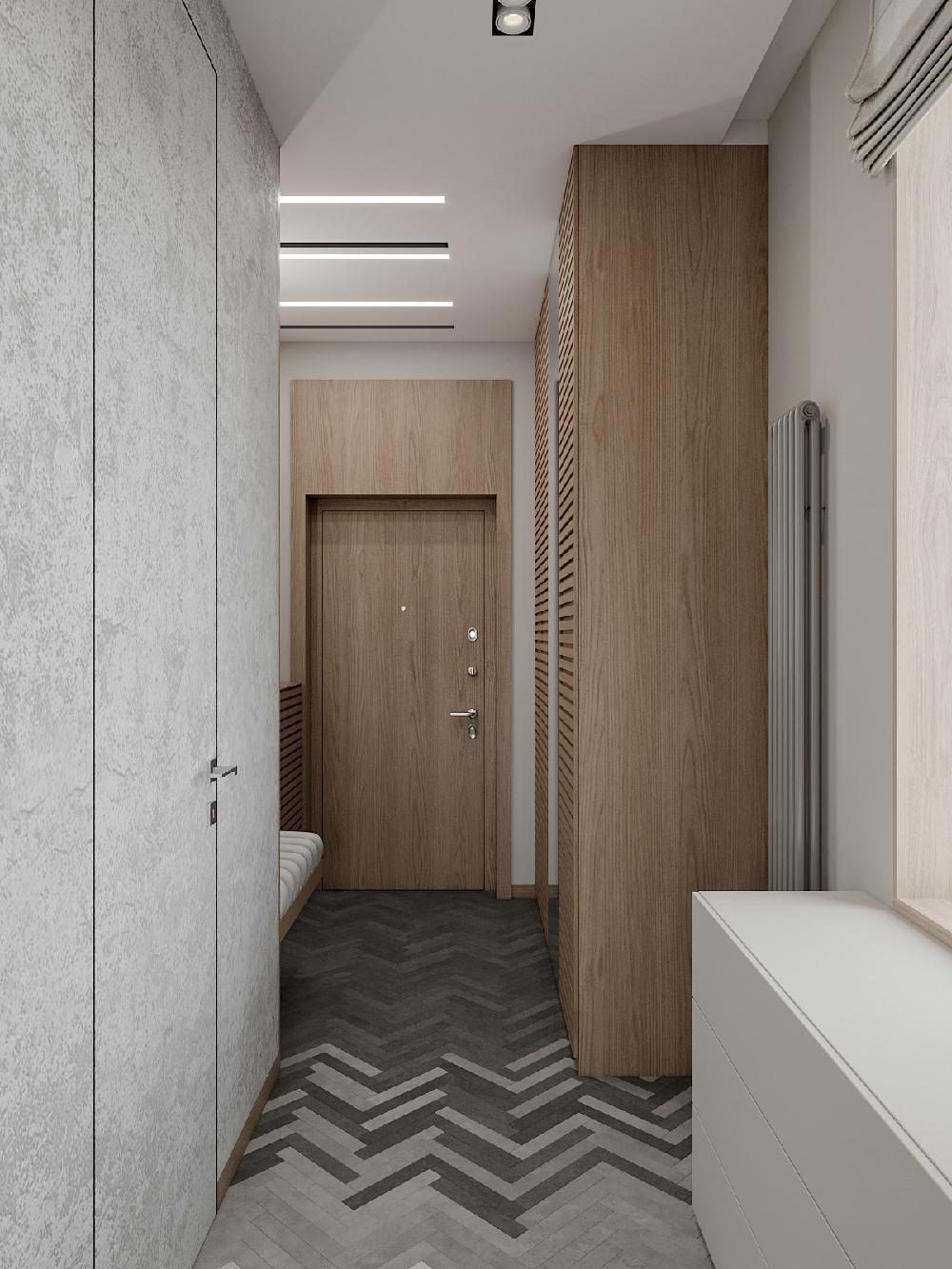二居 白领 旧房改造 收纳 80后 小资 玄关图片来自今朝小伟在80平米空间,简约北欧的分享