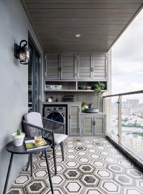 白领 收纳 旧房改造 80后 小资 阳台图片来自今朝小伟在简欧复式,打造清新居心地的分享
