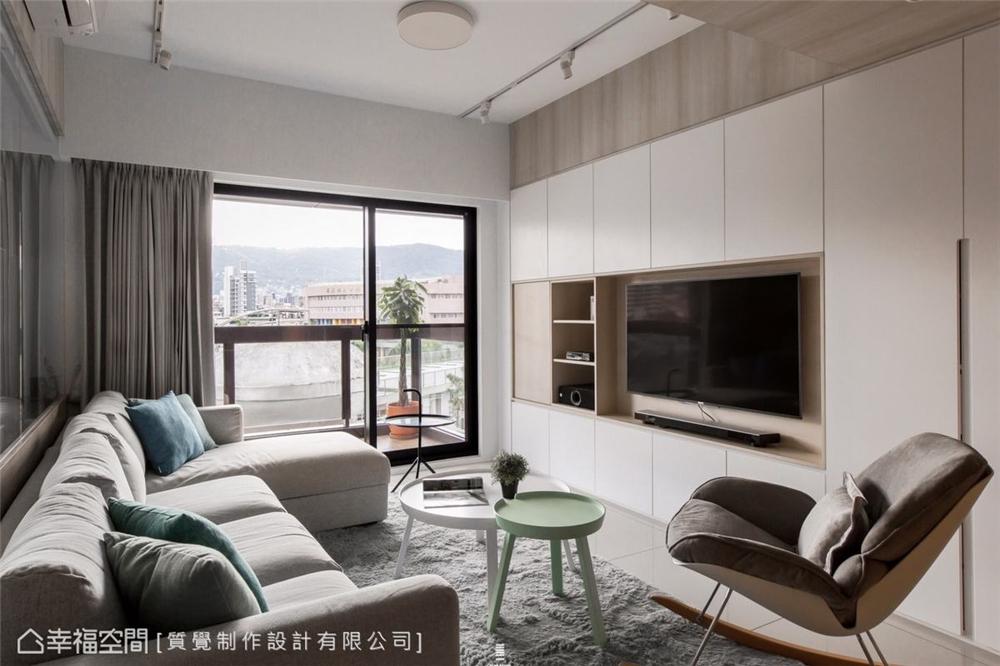 客厅图片来自幸福空间在83平,明亮素净的温暖居家的分享