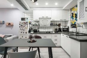 白领 收纳 旧房改造 80后 小资 厨房图片来自今朝小伟在50平米一居北欧风格居室的分享