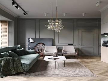 75平的公寓显示出生活的精致优雅