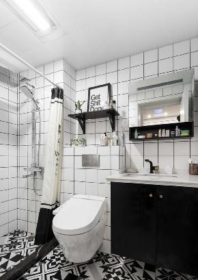 白领 收纳 旧房改造 80后 小资 卫生间图片来自今朝小伟在50平米一居北欧风格居室的分享