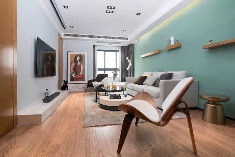 二居 白领 收纳 旧房改造 80后 小资 客厅图片来自今朝小伟在90㎡北欧风,很赞的婚房设计的分享
