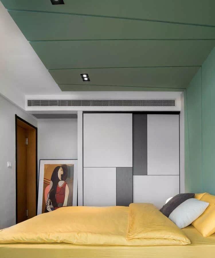 二居 白领 收纳 旧房改造 80后 小资 卧室图片来自今朝小伟在90㎡北欧风,很赞的婚房设计的分享