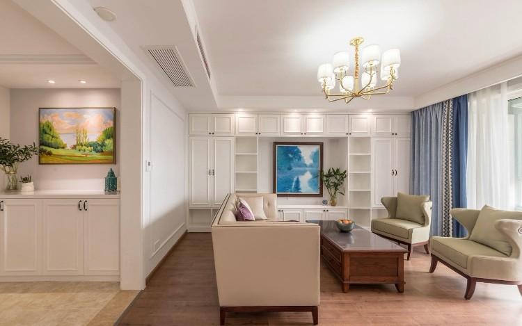 三居 白领 收纳 旧房改造 80后 小资 客厅图片来自今朝小伟在120平美式-森林华尔兹的分享