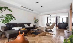 三居 白领 收纳 旧房改造 80后 小资 客厅图片来自今朝小伟在116平北欧风三居室,简约的分享