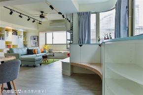 装修设计 装修完成 混搭风格 玄关图片来自幸福空间在99平,空气感跳色缤纷新婚宅的分享