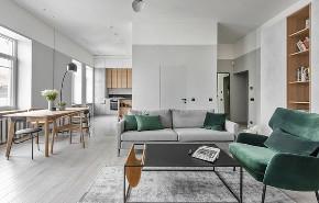 简约 三居 白领 收纳 旧房改造 80后 小资 客厅图片来自今朝小伟在极简盐系风,挡不住的魅力的分享