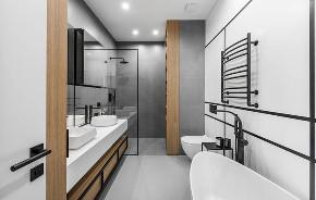 简约 三居 白领 收纳 旧房改造 80后 小资 卫生间图片来自今朝小伟在极简盐系风,挡不住的魅力的分享