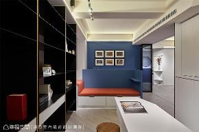 装修设计 装修完成 混搭 书房图片来自幸福空间在126平,围塑美式混搭休闲风的分享