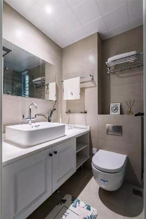 三居 白领 收纳 旧房改造 80后 小资 卫生间图片来自今朝小伟在89㎡北欧三居室,既清新又暖心~的分享