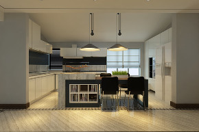 二居 简约 厨房图片来自晋级装饰官方在华润橡树湾122平现代简约风格的分享