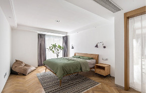 三居 白领 收纳 旧房改造 80后 小资 卧室图片来自今朝小伟在116平北欧风三居室,简约的分享