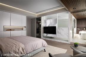 装修设计 装修完成 现代风格 卧室图片来自幸福空间在198平,用同心圆构筑温馨舒适宅的分享