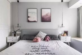 三居 白领 收纳 旧房改造 80后 小资 卧室图片来自今朝小伟在89㎡北欧三居室,既清新又暖心~的分享