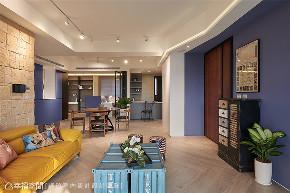 装修设计 装修完成 混搭 客厅图片来自幸福空间在126平,围塑美式混搭休闲风的分享