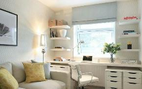 二居 白领 收纳 旧房改造 80后 小资 客厅图片来自今朝小伟在小户型书房设计,恰到好处的的分享