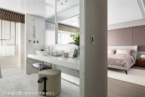 装修设计 装修完成 现代风格 卫生间图片来自幸福空间在198平,用同心圆构筑温馨舒适宅的分享