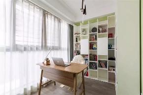 三居 白领 收纳 旧房改造 80后 小资 书房图片来自今朝小伟在89㎡北欧三居室,既清新又暖心~的分享