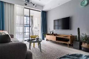 三居 白领 收纳 旧房改造 80后 小资 客厅图片来自今朝小伟在89㎡北欧三居室,既清新又暖心~的分享