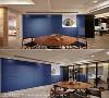 穿透材质运用 打掉餐厅与书房的实墙隔间,吕学宇设计师选用铁件玻璃折门表现开阔尺度,赋予空间视觉穿透感及弹性使用机能。